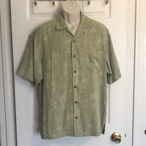 Tommy Bahama Palm Tree Button Down Shirt Size M